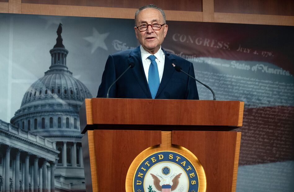 """Senate Democratic leader Chuck Schumer suggested in a statement Thursday that Vice President Pence """"immediately invoke the 25th amendment."""" (Saul Loeb/AFP via Getty Images)"""