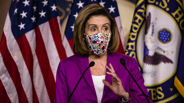 Speaking to reporters Thursday, House Speaker Nancy Pelosi, D-Calif, called for the removal of President Trump from office.