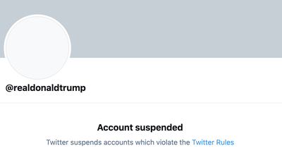 Twitter Permanently Suspends Trump, Citing 'Risk Of Further Incitement Of Violence'