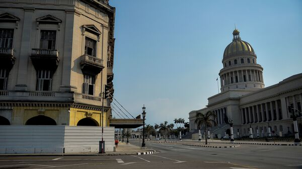An empty street near the Havana Capitol, in Cuba in May 2020. The Trump administration plans to designate Cuba as a state sponsor of terrorism.
