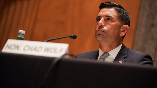 Department of Homeland Security acting Secretary Chad Wolf is stepping down, citing ongoing litigation regarding his authority at the department.