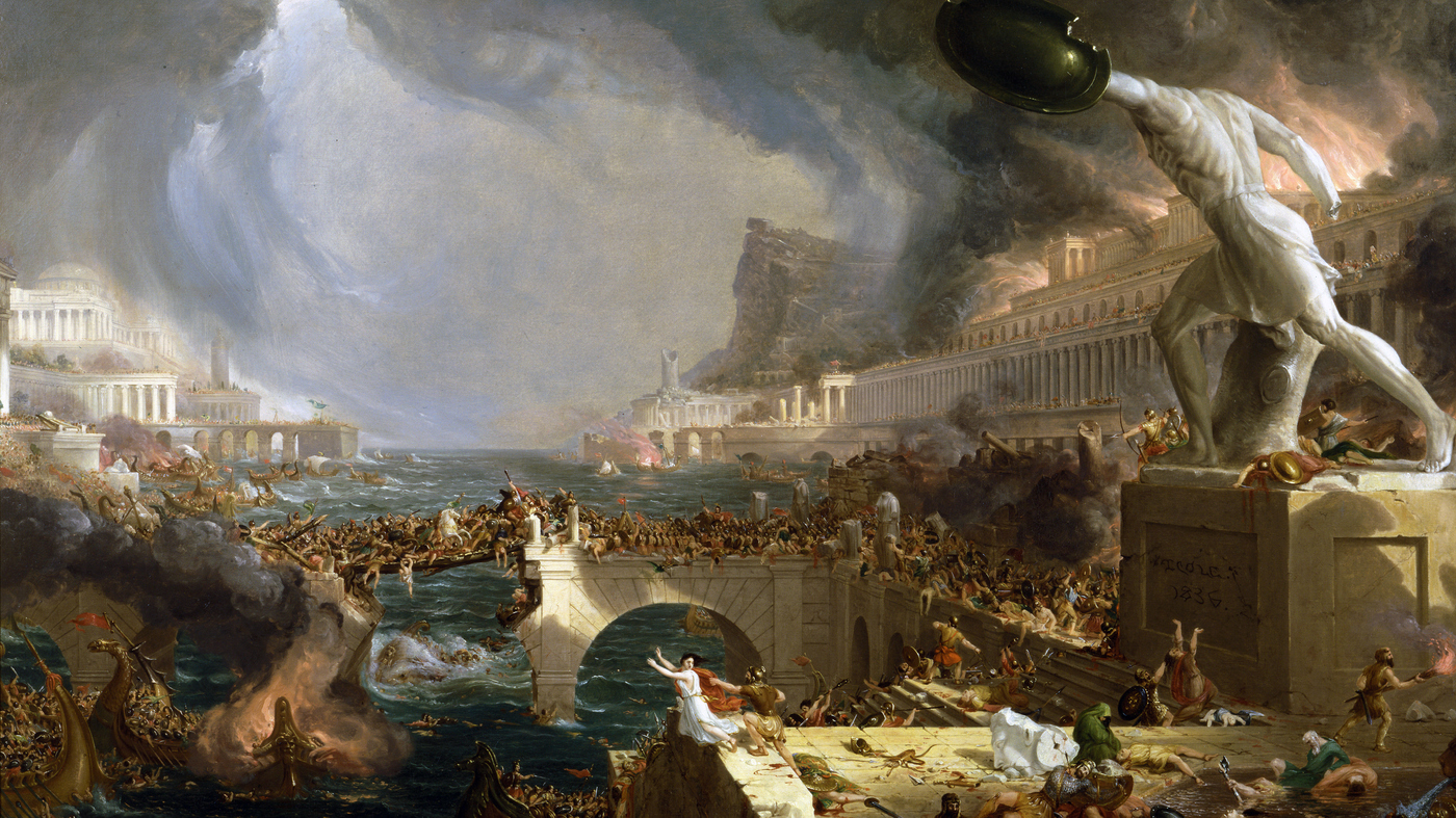 The Course of Empire (1836) by Thomas Cole.                                                                            VCG Wilson/Get