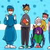 Em meio a surtos, os professores fazem fila para as vacinas