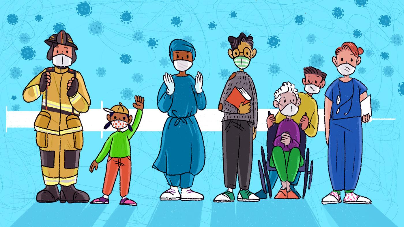 Di Tengah Lonjakan, Guru Berbaris Untuk Vaksin Mereka