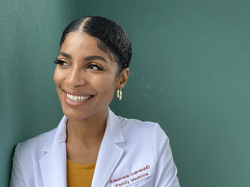 Dr. Kristamarie Collman, a family physician in Orlando, has been dispelling vaccine myths through social media. She's among a growing cohort of Black doctors trying to reach vaccine-hesitant members of their communities. (Kristamarie Collman)