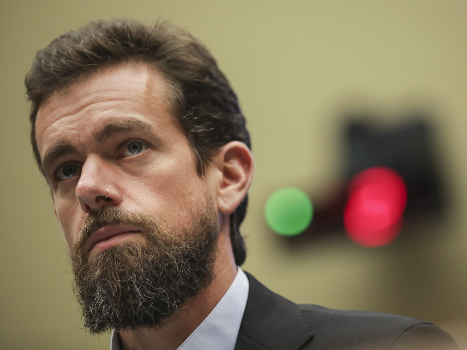 Twitter CEO Jack Dorsey said on Wednesday that he believes tech companies that banned President Trump from various social media platforms was a move that sets a dangerous precedent for a free Internet. (Drew Angerer/Getty Images)