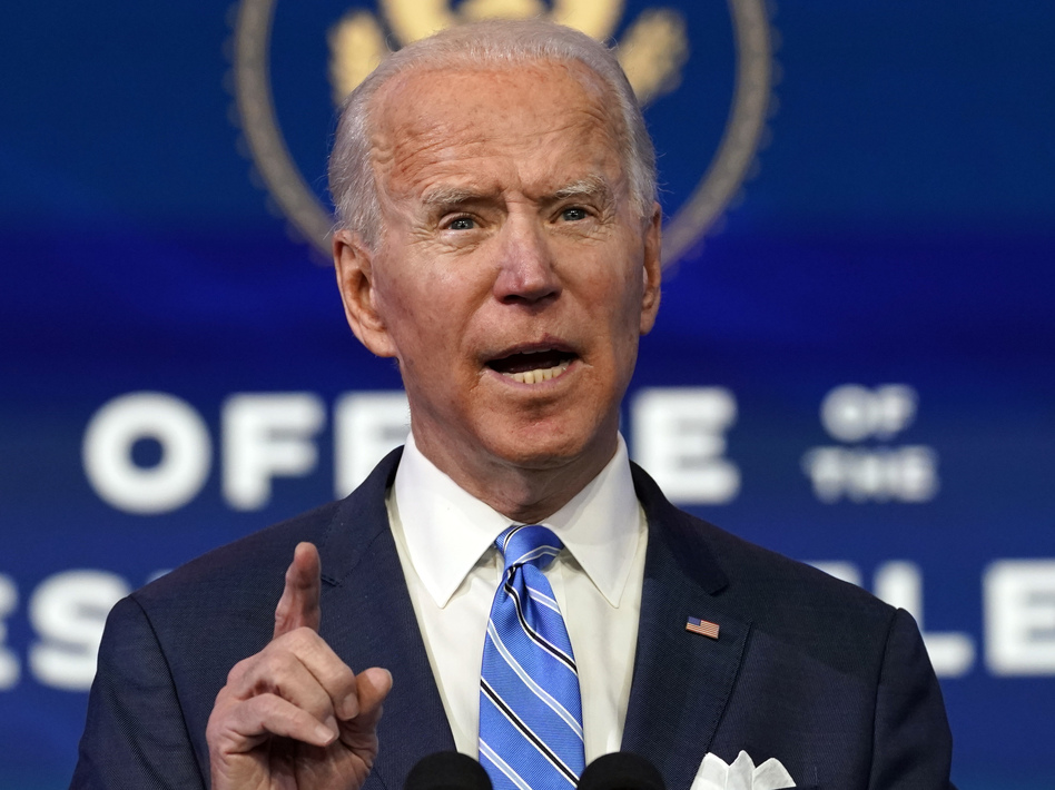 President-elect Joe Biden has released a $1.9 trillion proposal to help control the pandemic and bring economic relief to Americans. (Matt Slocum/AP)