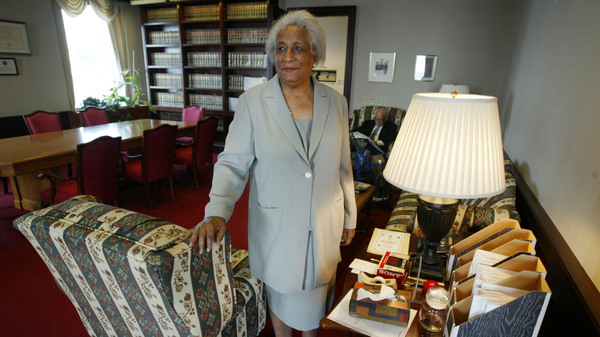 The new scholarship program is in part named after the late Constance Baker Motley, seen here in 2004, who was the first Black woman federal judge.