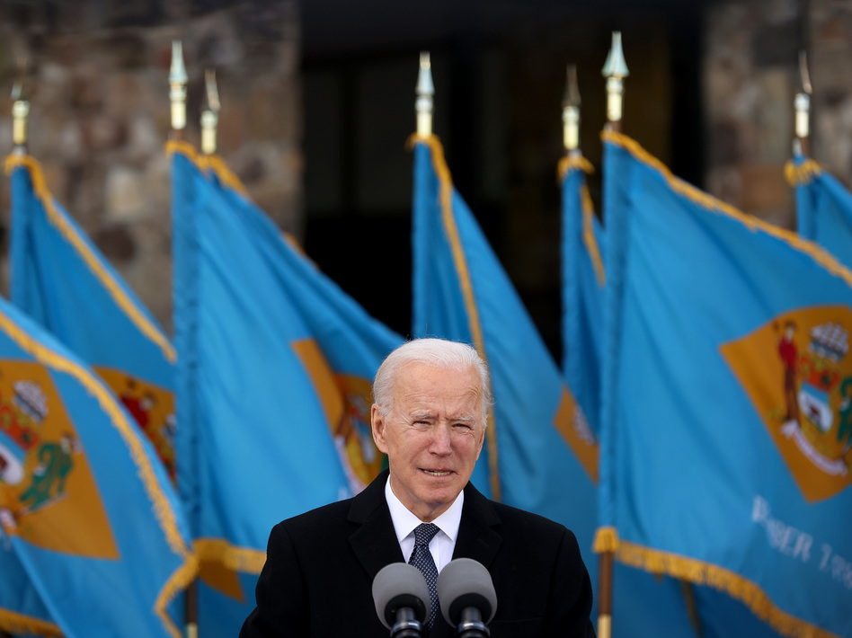 Joe Biden, seen here speaking in Delaware just before leaving for Washington, D.C., has planned a flurry of executive actions for the start of his presidency. (Chip Somodevilla/Getty Images)
