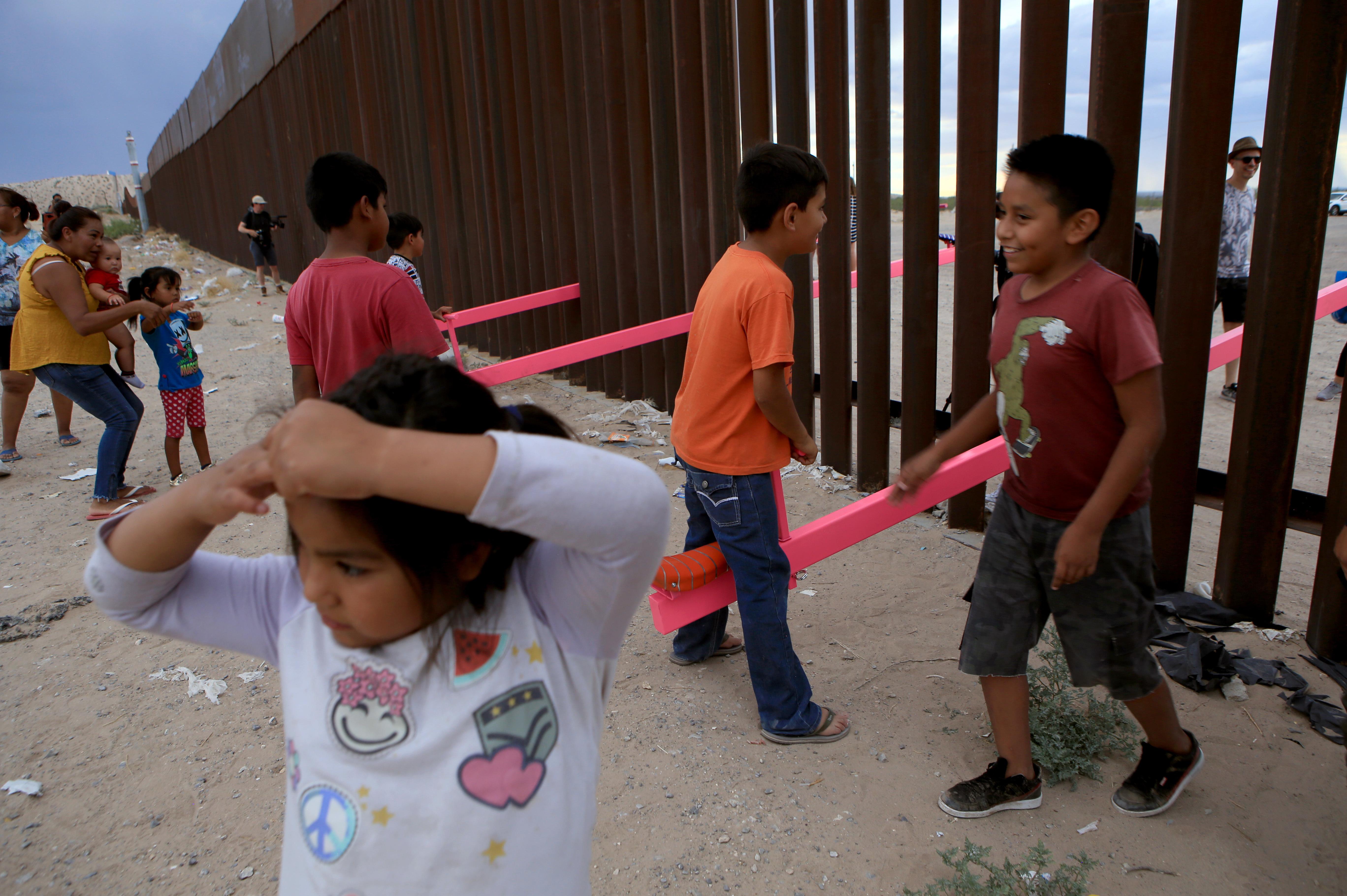 Seesaws Built On U S Border Wall Win Prestigious Design Prize Npr