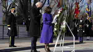 President Biden And Predecessors Attend Wreath-Laying Ceremony At Arlington Cemetery