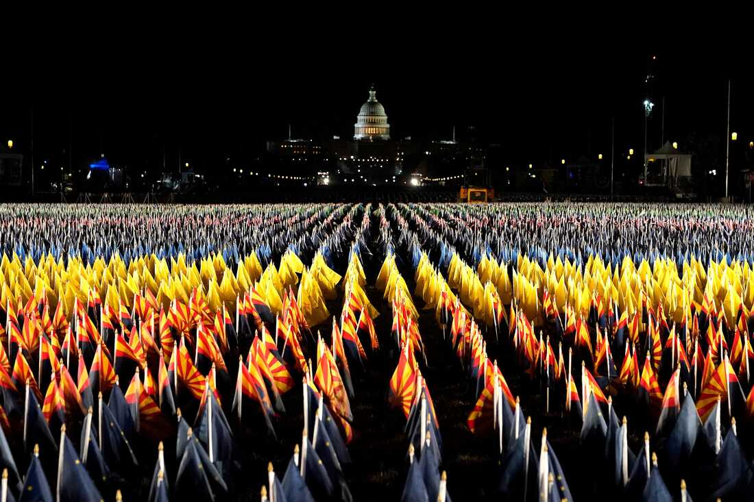 """The """"Field of Flags"""" on the National Mall."""