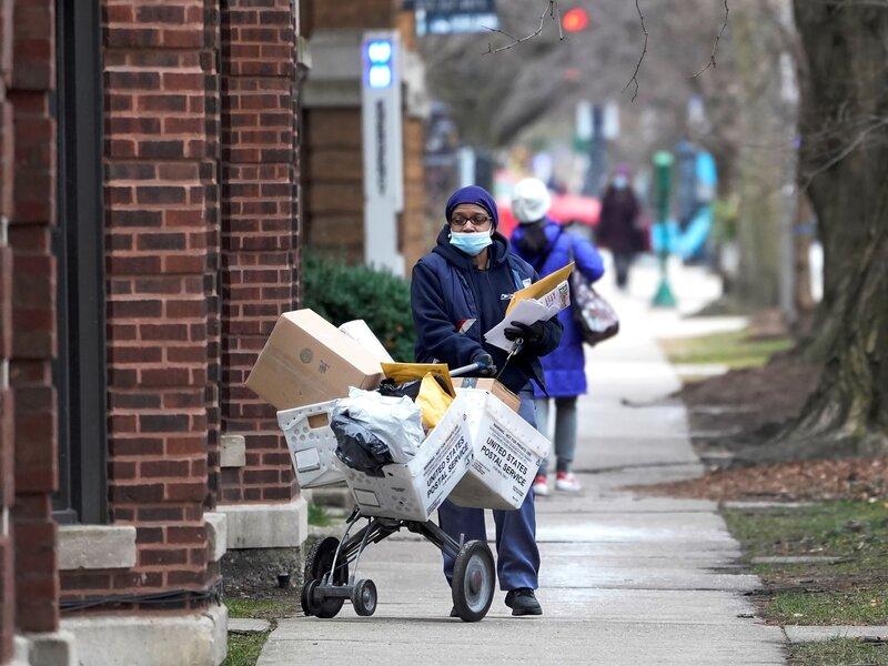 U S Postal Service Struggles To Deliver Mail After Holidays Amid Pandemic Npr