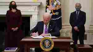 On Day 2, Biden Focuses On COVID-19 Strategy With 10 Executive Actions