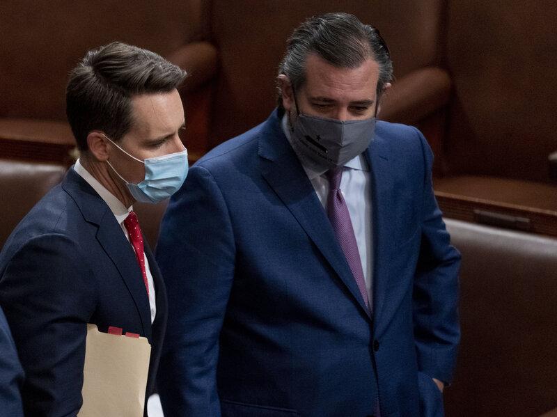 Senate ethics complaint targets Cruz, Hawley
