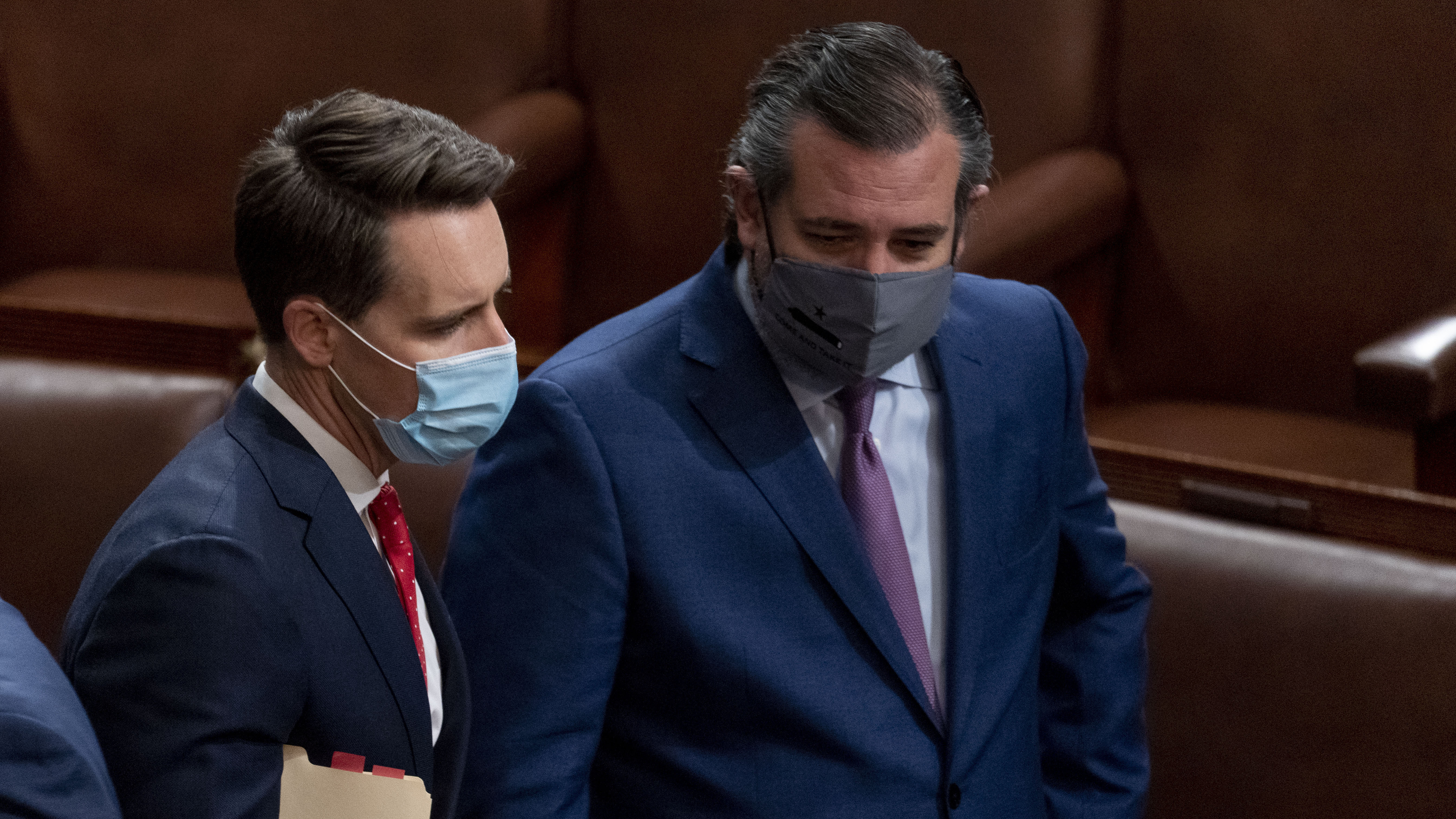 Seven Senate Democrats filed an ethics complaint Thursday against Sens. Josh Hawley, R-Mo., and Ted Cruz, R-Texas, over their Jan. 6 objections to the November presidential elections.