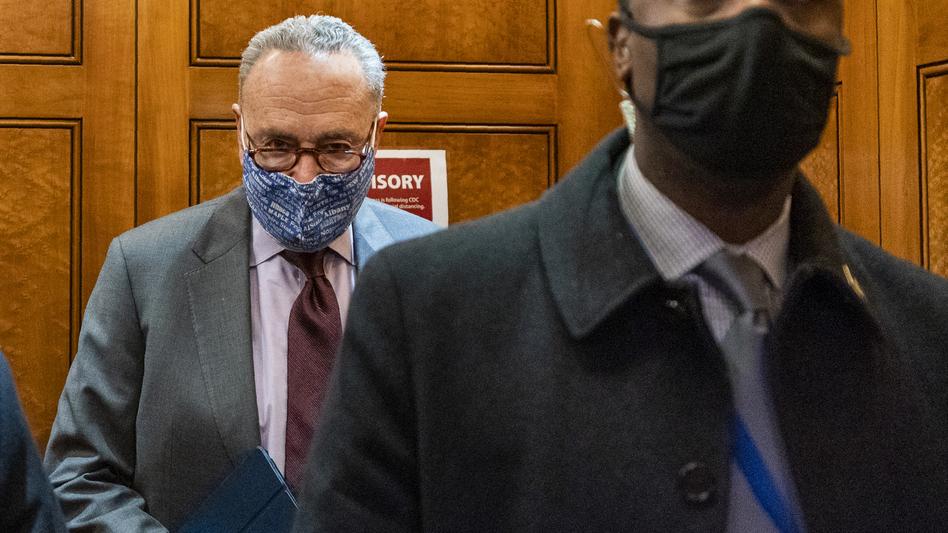 Senate Majority Leader Chuck Schumer, D-N.Y., is seen at the U.S. Capitol Friday. (Manuel Balce Ceneta/AP)