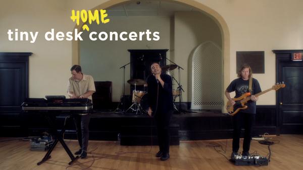 Future Islands play a Tiny Desk (home) concert.