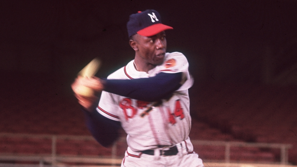 Legendary baseball player Hank Aaron has died at the age of 86. (Hulton Archive/Getty Images)