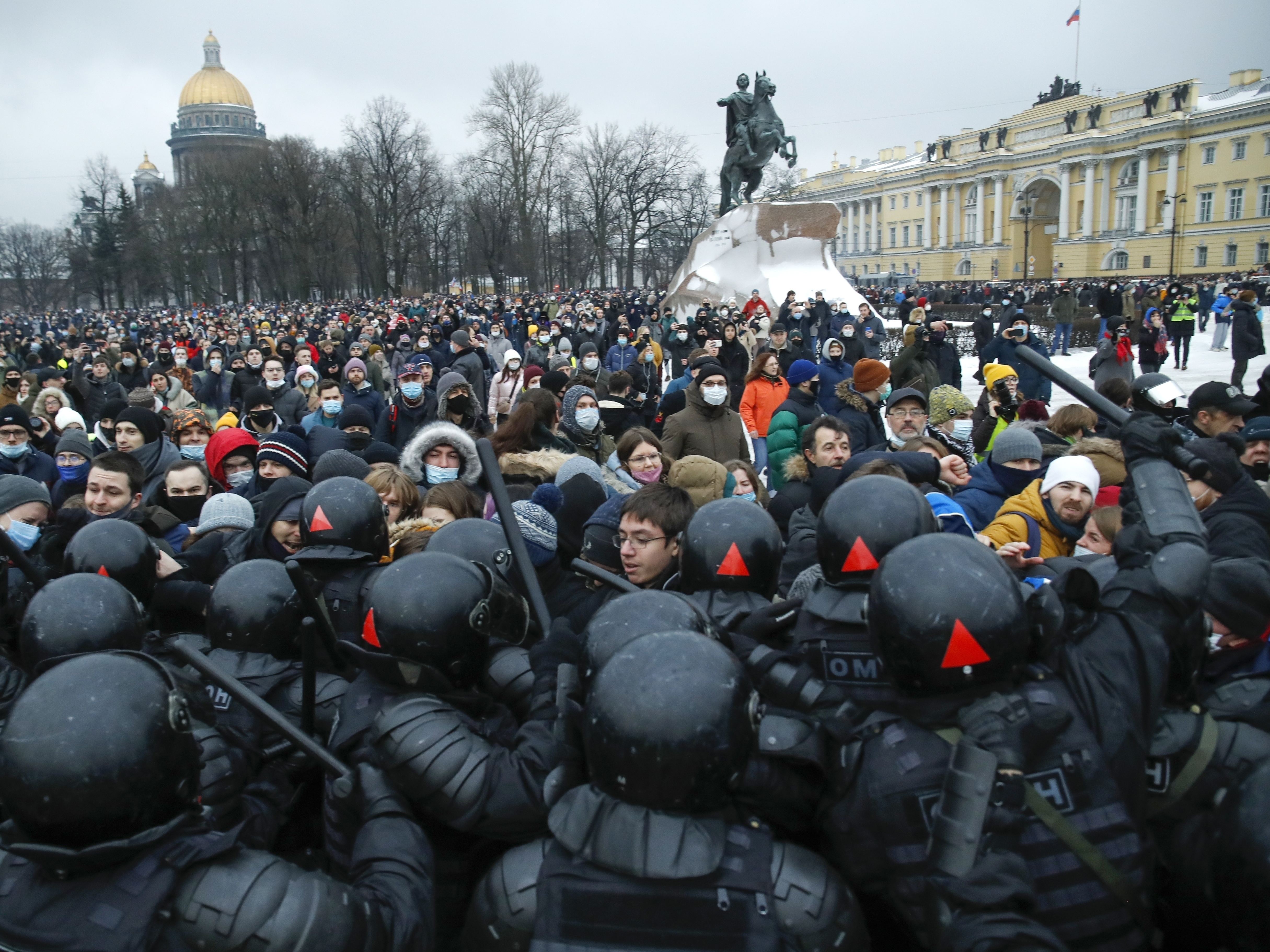 US State Department denounces Russia's 'harsh tactics' against Navalny protesters