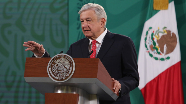 Mexican President Andrés Manuel López Obrador, pictured during a daily press conference at National Palace in Mexico City last week, says he