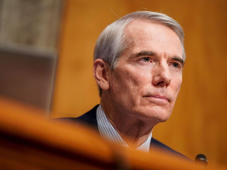 Sen. Rob Portman, R-Ohio, seen here during a confirmation hearing last week, has announced he won't run for reelection in 2022. (Joshua Roberts/Pool/AFP via Getty Images)