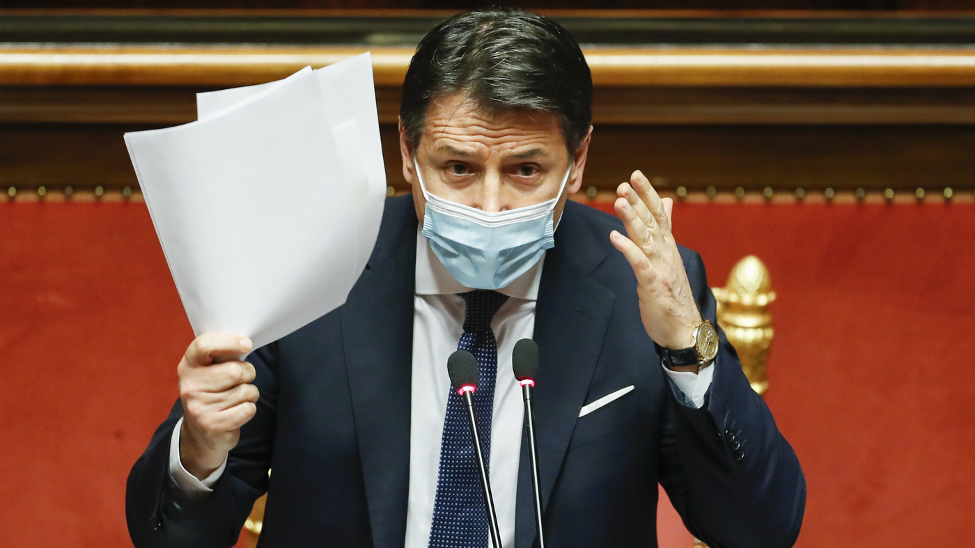 Italy's Prime Minister Quits As COVID-19 Response Splits Coalition Government -
