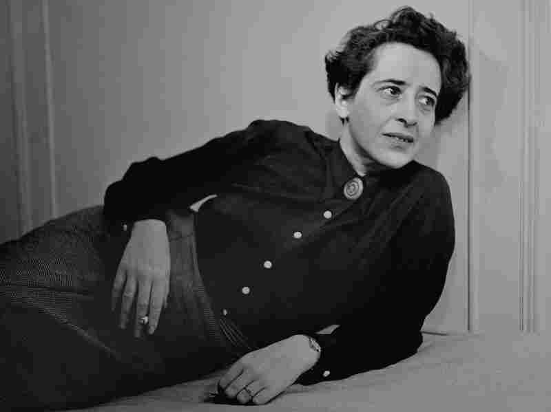 Portrait of German-born philosopher, political theorist, and author Hannah Arendt (1906-1975), 1949.