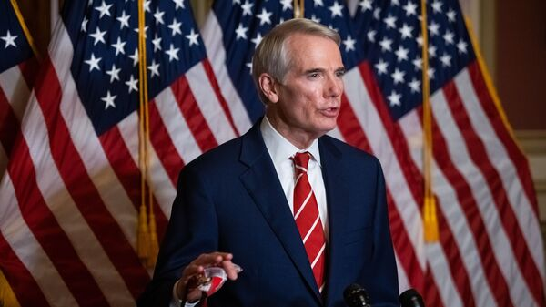 Sen. Rob Portman, R-Ohio, seen here during a press conference in October, announced he won