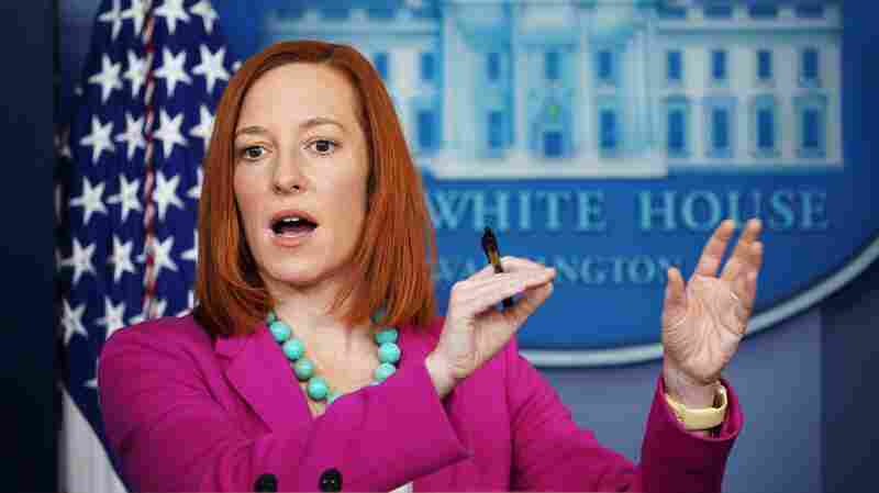 White House Press Secretary Jen Psaki speaks during a press briefing on Jan. 28, 2021, in the Brady Briefing Room of the White House in Washington, D.C.