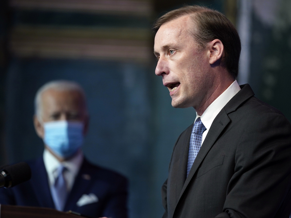 Jake Sullivan, President Biden's national security adviser, says there are some foreign policy initiatives the Trump administration started that the new White House will build on. (Carolyn Kaster/AP)