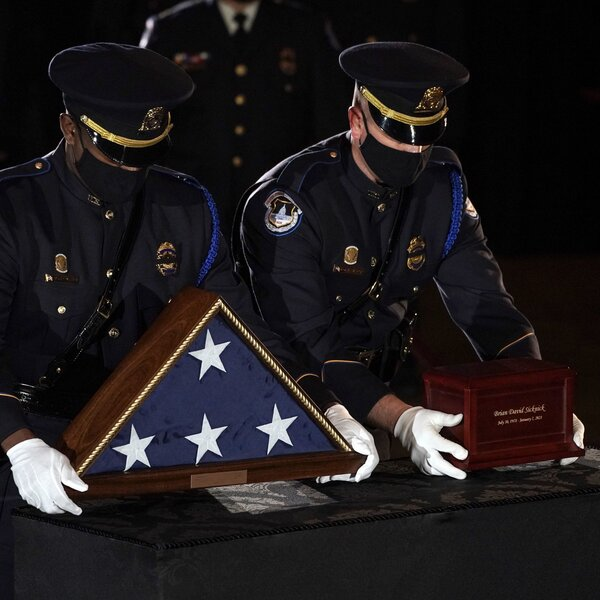 Lawmakers Honor Slain Capitol Police Officer Brian Sicknick In Rotunda