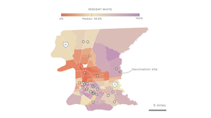 Across The South, COVID-19 Vaccine Sites Missing From Black And Hispanic Neighborhoods