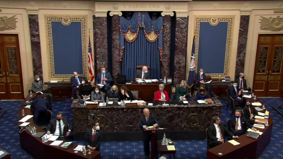 The Senate voted Tuesday that the trial of former President Donald Trump is constitutional and that he can be subject to the Senate as a court of impeachment. (Handout/Getty Images)