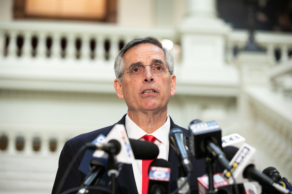 Georgia prosecutors are investigating whether former President Donald Trump's phone call to pressure Georgia Secretary of State Ben Raffensperger to overturn the state's election results in Trump's favor broke state laws. (Jessica McGowan/Getty Images)