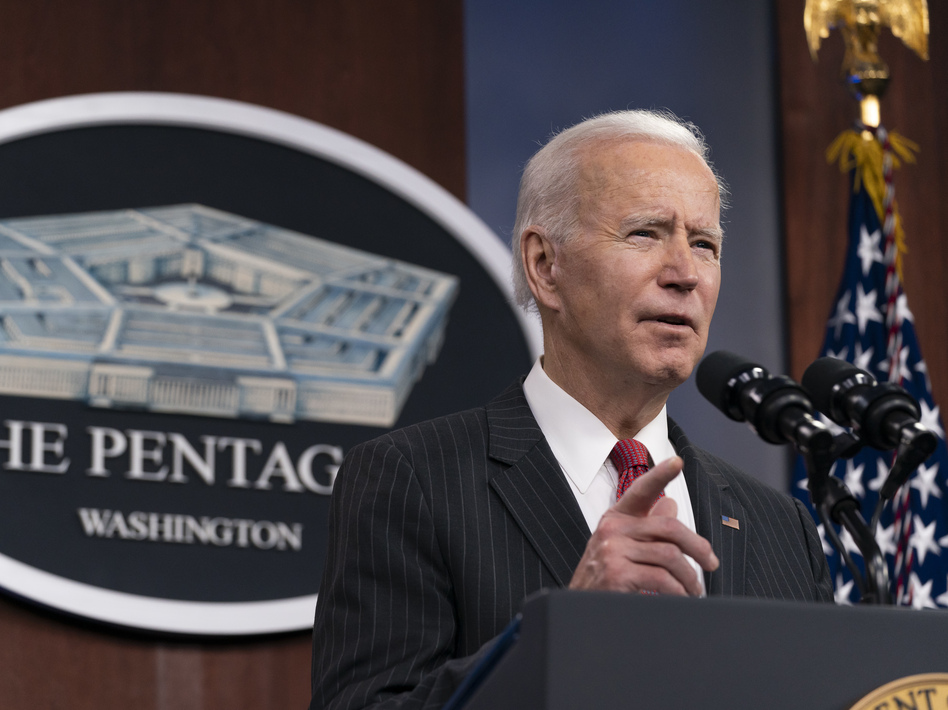 President Biden announced a task force on China issues during his first trip as president to the Pentagon on Wednesday. (Alex Brandon/Pool/Getty Images)