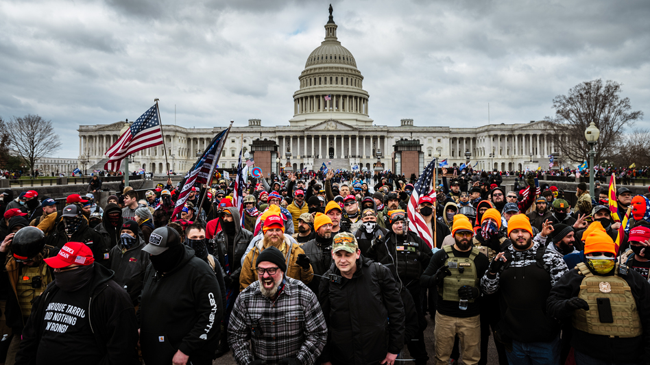 Former President Donald Trump was impeached for inciting the insurrection at the U.S. Capitol on Jan. 6 while lawmakers were certifying the Electoral College votes in his election loss. (Jon Cherry/Getty Images)