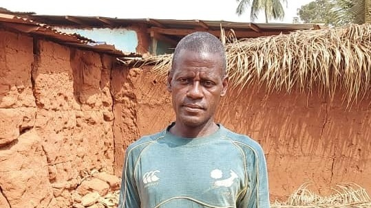 Eric Dossekpli, 49, is a farmer and father of six in the town of Anfoin Avele,Togo. He says he can no longer sell his crops as a result of the pandemic.