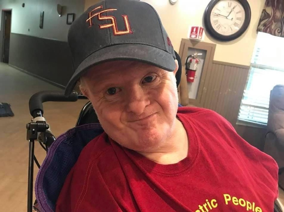 Peter Prater survived a case of COVID-19 after an outbreak hit his home, the Tallahassee Developmental Center in April. No federal agency tracks how many of the estimated 300,000 people who live in such facilities nationwide have caught COVID-19 or died as a result. (Susan Prater-DeBeaugrine)