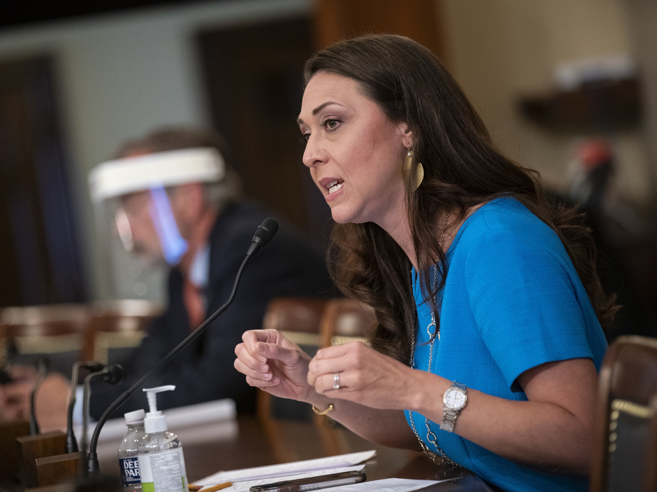 On Saturday morning, senators voted to hear from Republican Rep. Jaime Herrera Beutler as a witness in the impeachment trial. Later, an agreement allowed a statement by her into the record without calling her. (Bloomberg via Getty Images)