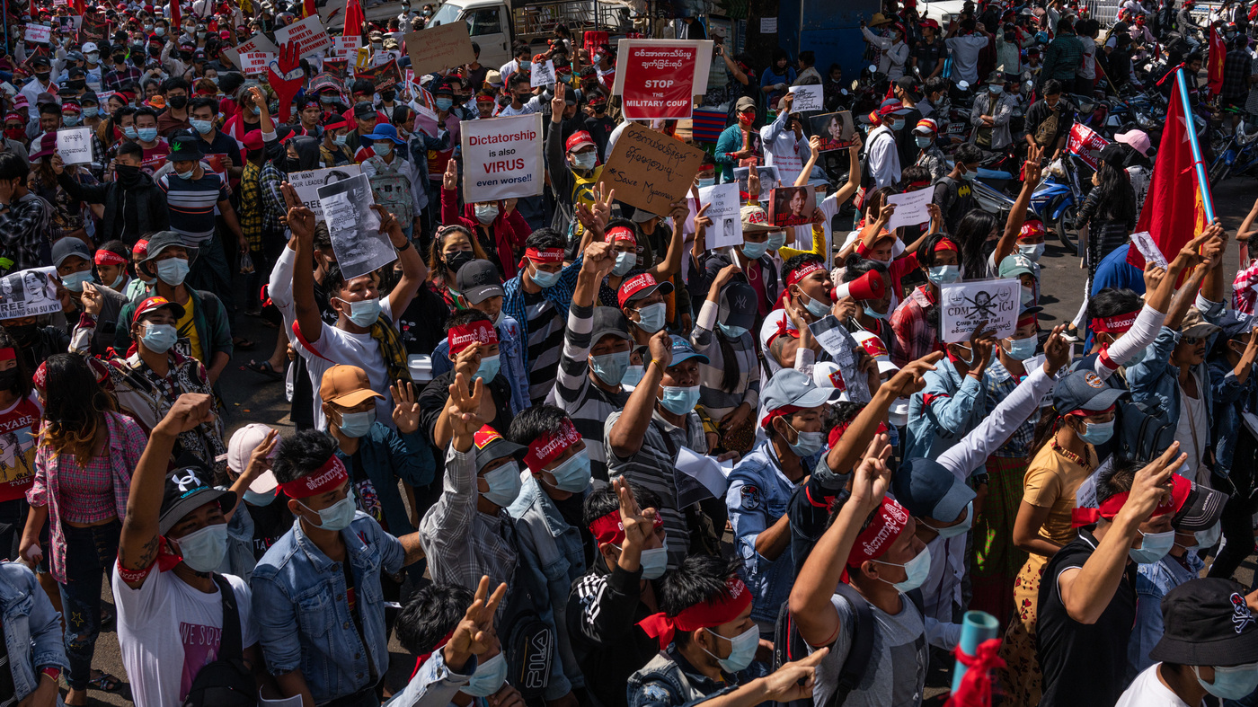 Protests Continue In Myanmar As Military Tightens Grip On Country – NPR