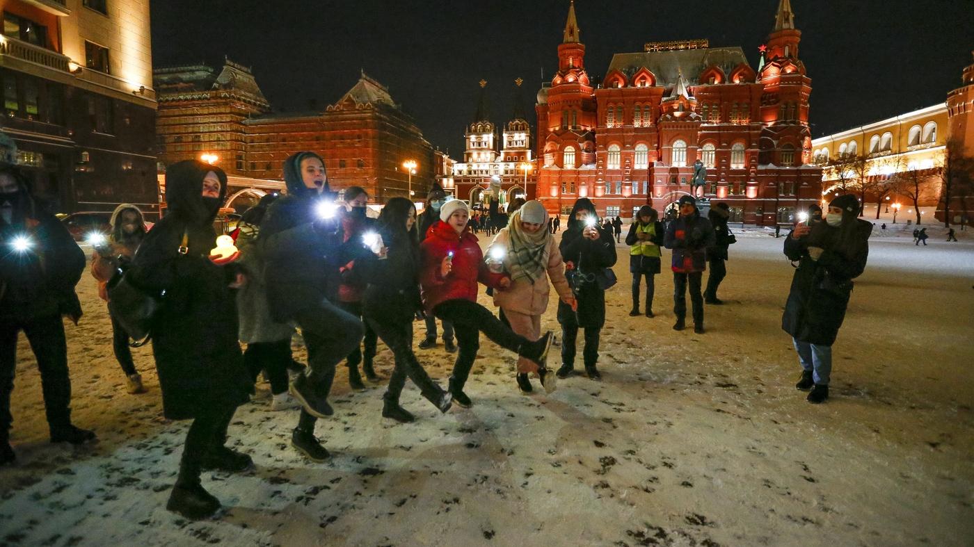 Alexei Navalny Supporters Gather For Valentine's Day Vigils - NPR