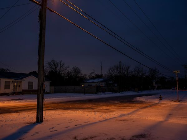 Snow covers the ground in Waco, Texas, on Feb. 17. Texas Gov. Greg Abbott has blamed renewable sources for the blackouts that have hit the state. In fact, they were caused by a systemwide failure across all energy sources.