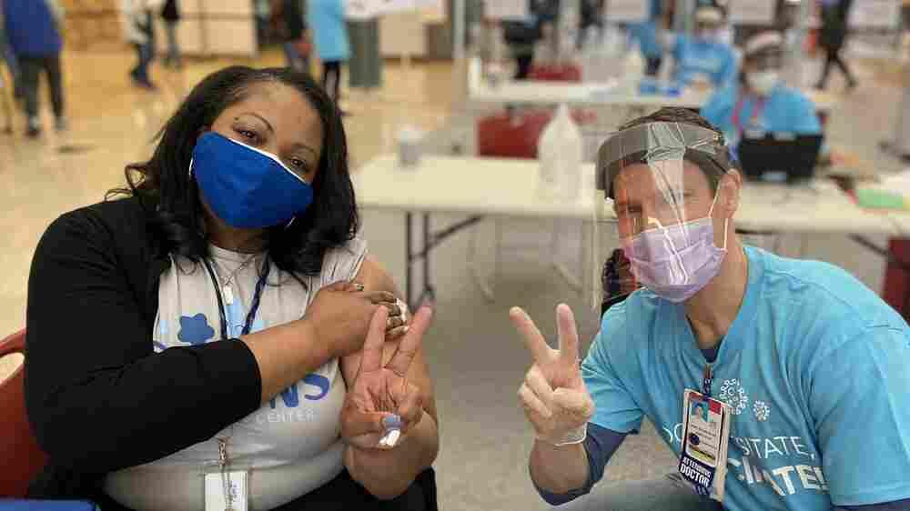 Guards, Generosity, Patience: A Volunteer Effort To Vaccinate Public School Workers