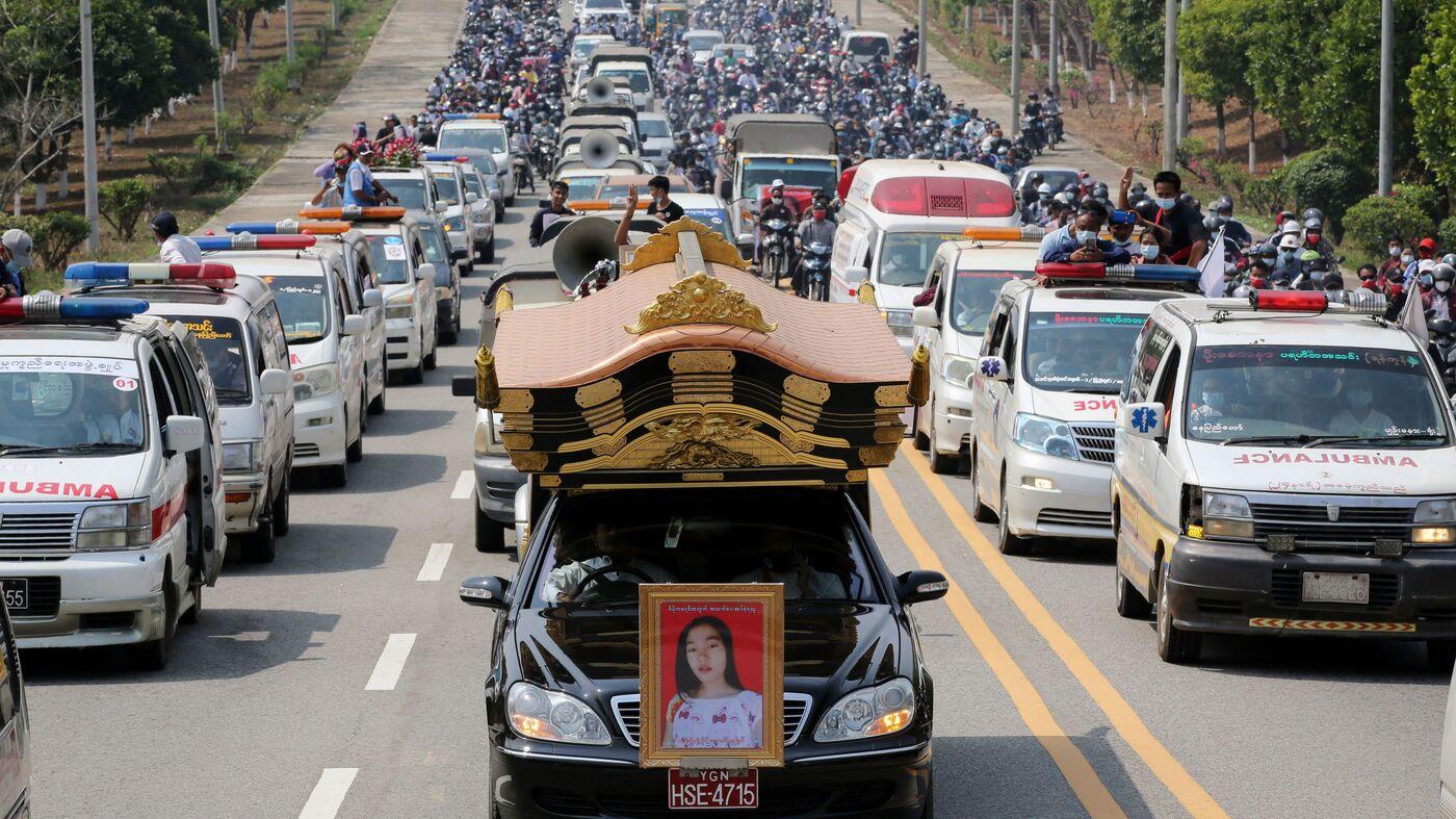 As Myanmar Mourns Slain Protesters, Military Junta Threatens More Violence - NPR