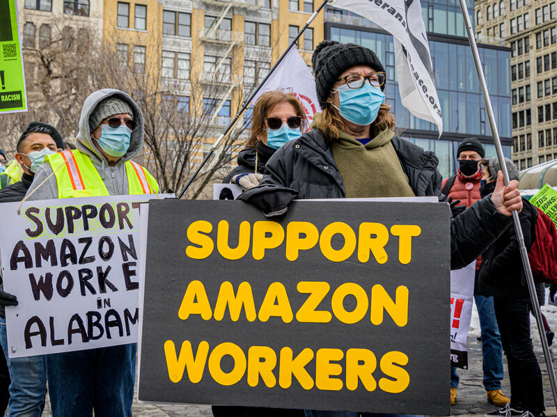 Amazon Warehouse in Alabama Holds Retail Union Vote : The Indicator from  Planet Money : NPR