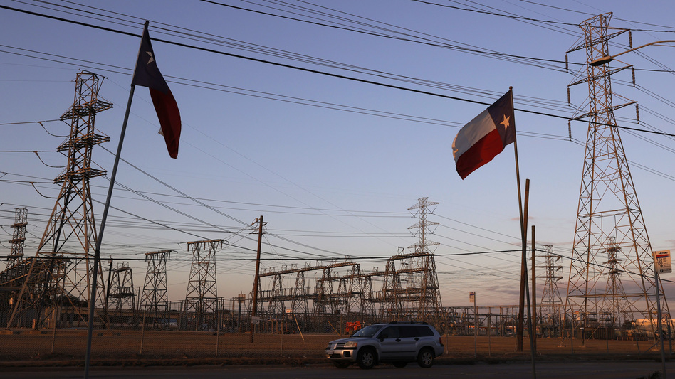 Cristian Pavon's family says negligence caused his death last week at age 11. Their home had been without power for two days as extreme cold hit Texas, a relative says. Here, an electrical substation is seen in Houston on Sunday. (Justin Sullivan/Getty Images)