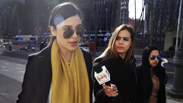 "Emma Coronel Aispuro (far left), wife of Joaquin ""El Chapo"" Guzman, is now facing several charges for her alleged involvement in the Sinaloa Cartel"