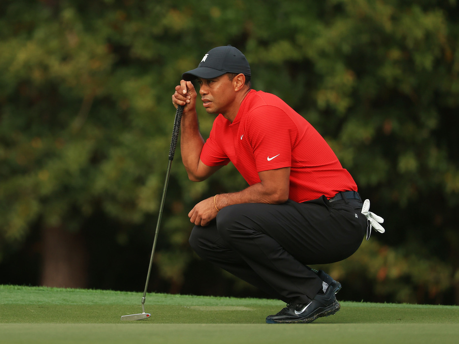 Tiger Woods, shown here in December, has been injured in an automobile collision, according to the Los Angeles County Sheriff's Department.