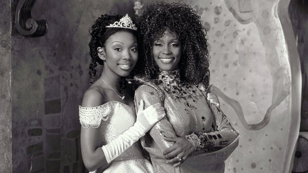 Brandy Norwood and Whitney Houston play Cinderella and her fairy godmother in Disney's beloved production of Rodgers & Hammerstein's Cinderella.